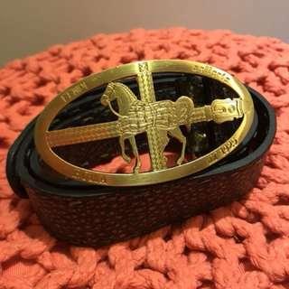 Fendi metallic belt in size 75