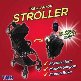 Stroller mudah buka, lipat dan ringan