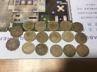 香港一毫兩毫 女皇 $0.1 $0.2
