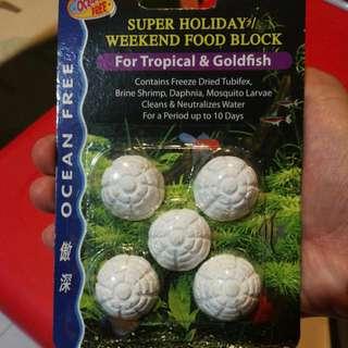 Aqua - Ocean Free Super Holiday Weekend Food Block Small Clamshells