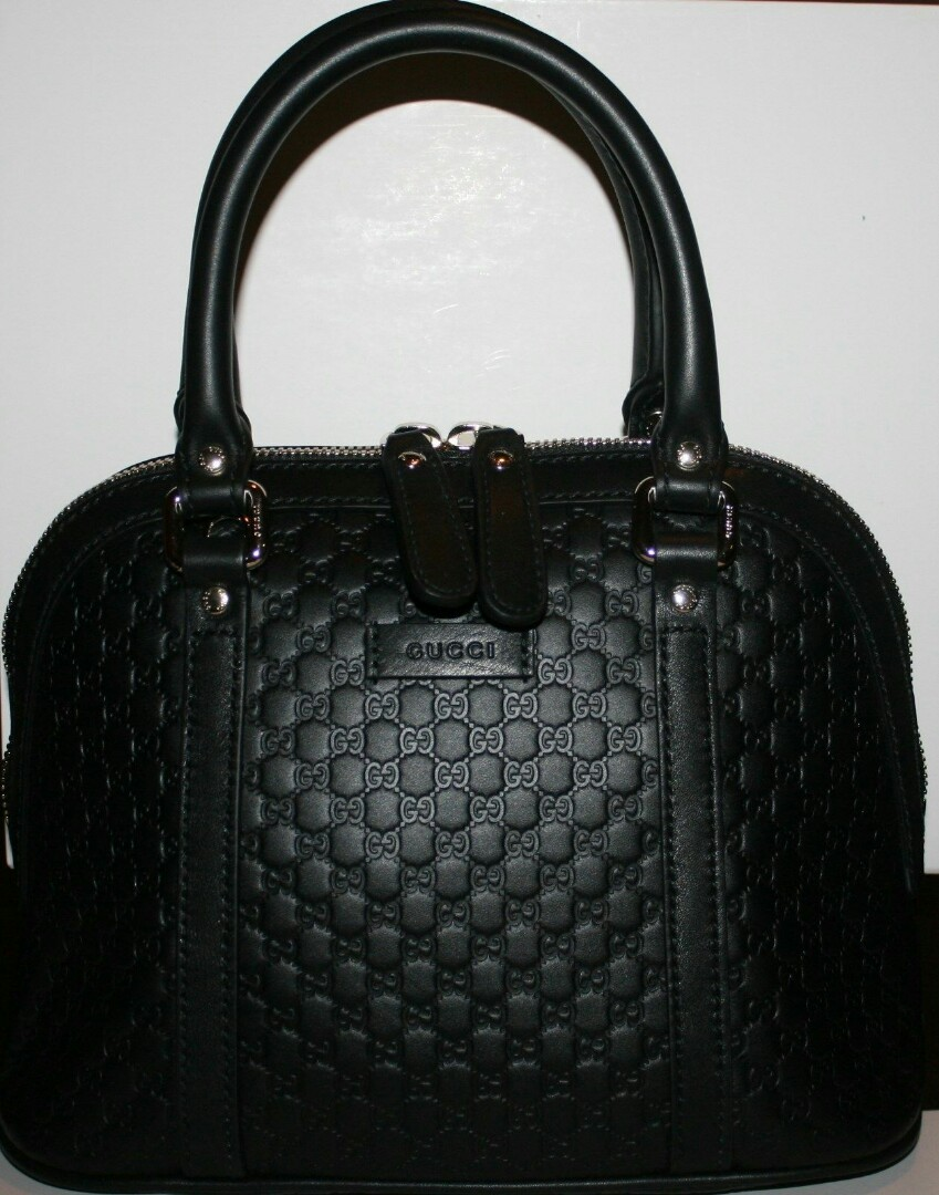 5b2c4e9e2bc7 $995 NWT GUCCI MICRO GUCCISSIMA GG DOME BLACK LEATHER HANDBAG W/ SHOULDER  STRAP, Women's Fashion, Bags & Wallets on Carousell