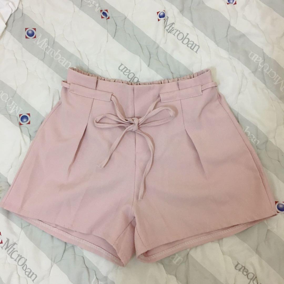 粉色西裝褲 短褲