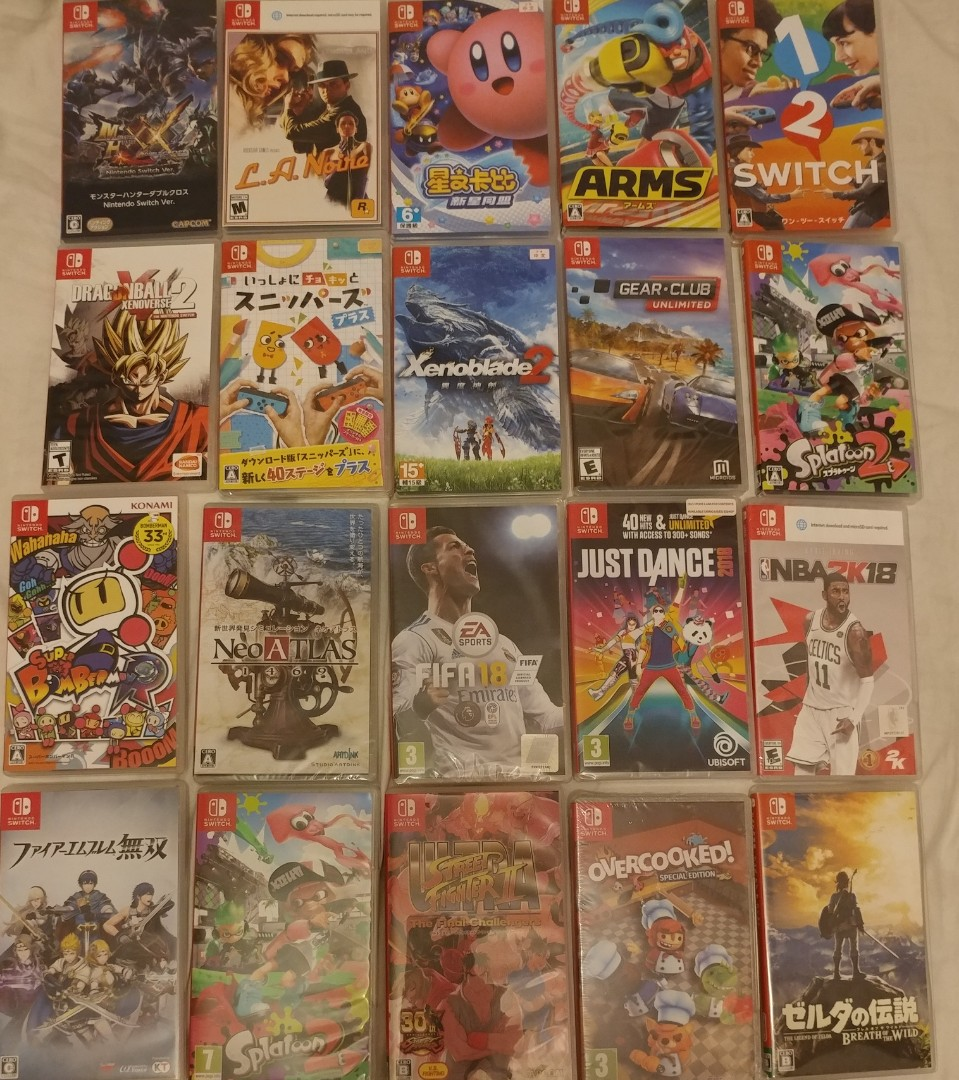 放或換 Switch games 28隻 我有的和没的也可換