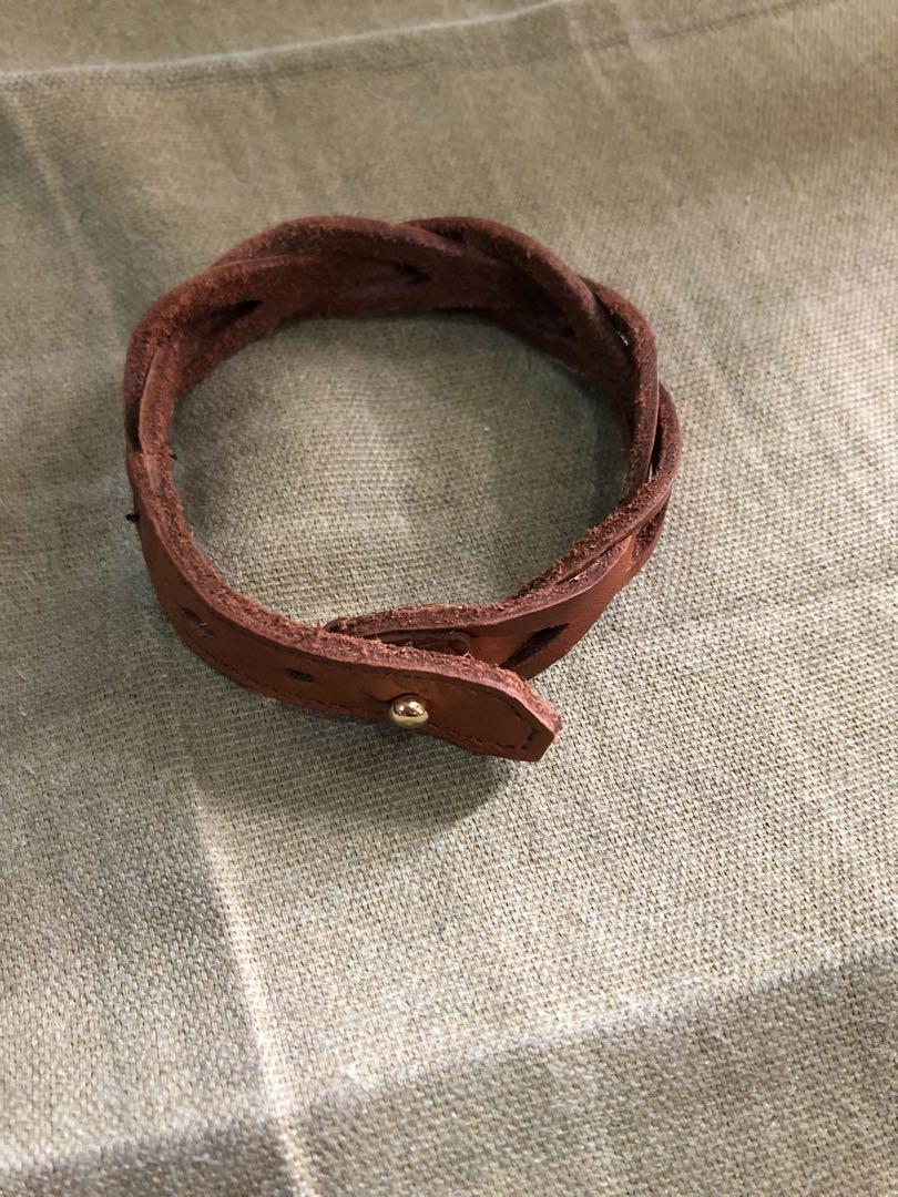 Authentic J Crew Leather Bracelet On Carou