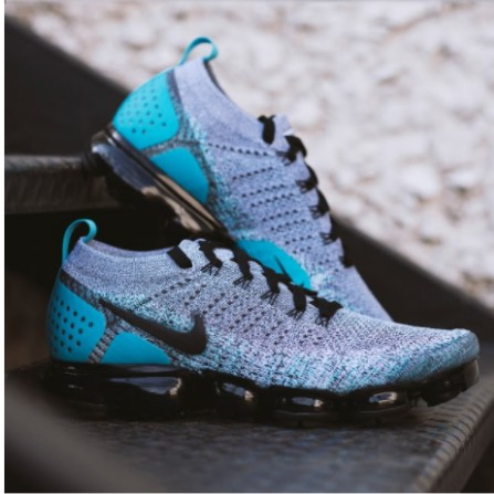 3ffadbb42559 Authentic Nike Air VaporMax Flyknit 2.0 Dusty Cactus Hyper Jade ...