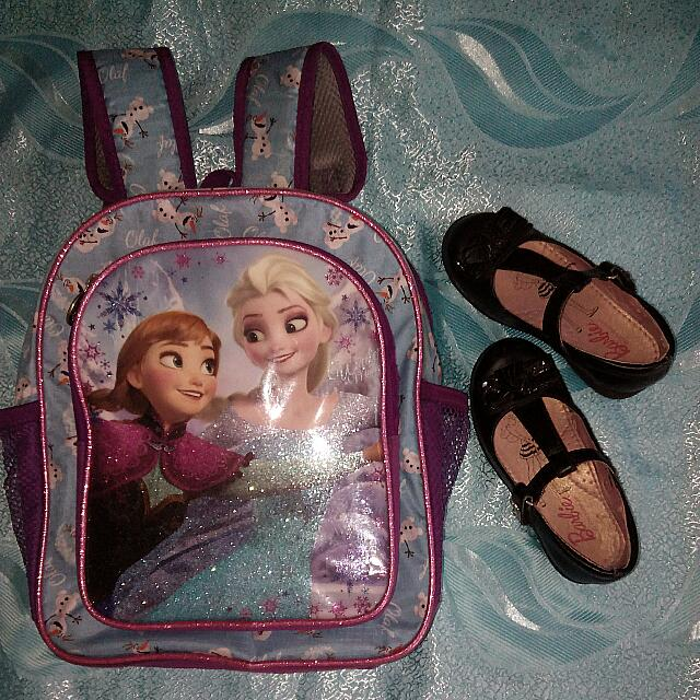 Back Pack And School Shoes Set