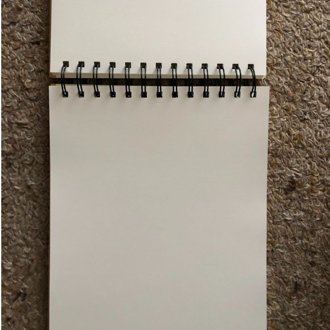Blank notebook B5 size