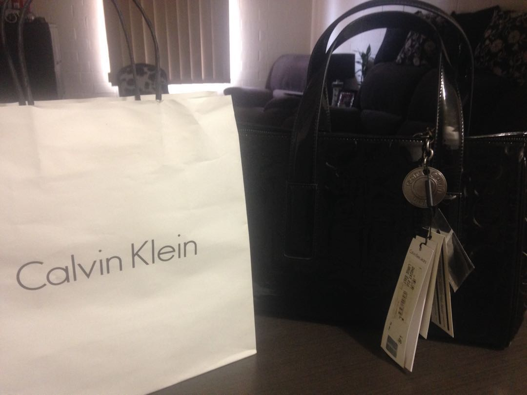 Brand new authentic CK black bag water resistant