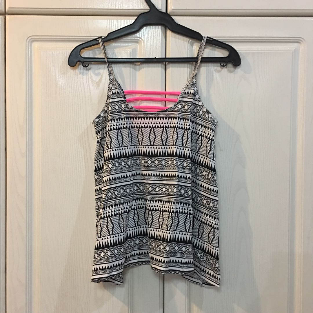 Cache Cache Aztec Top with Pink Detailing