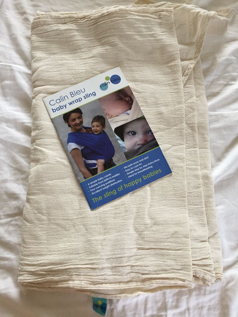 Calvin Bleu White Gauze Wrap Babies Kids On Carousell