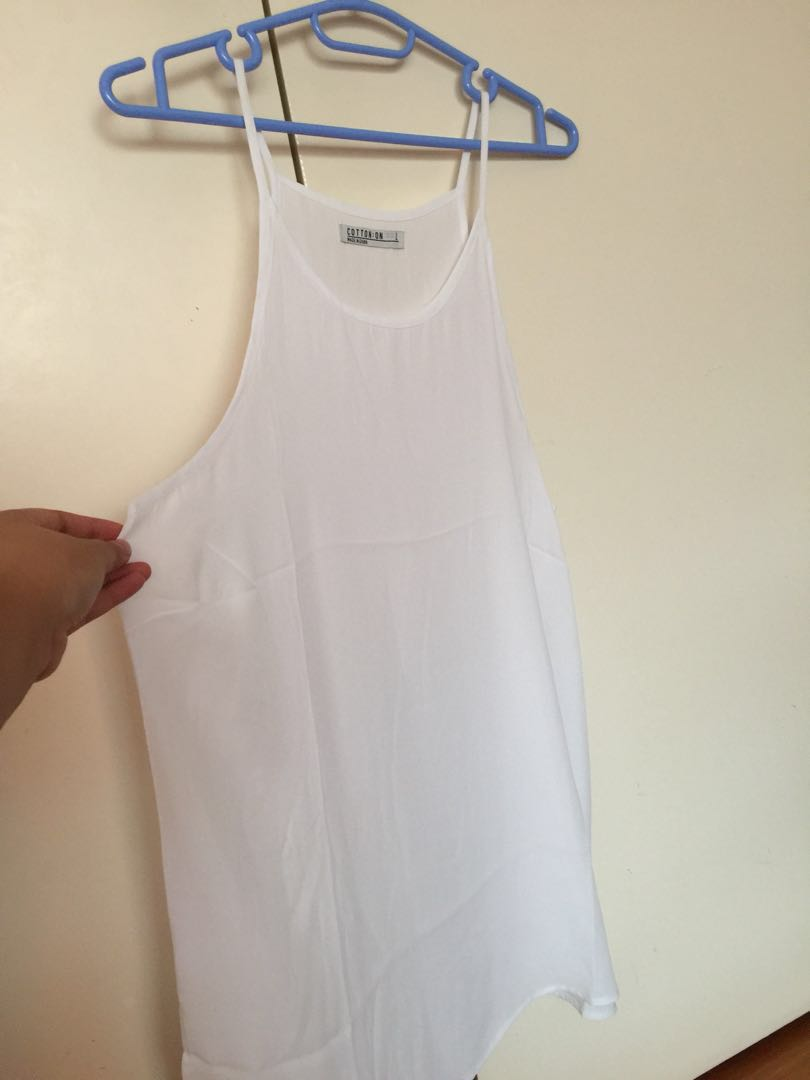 COTTON ON white halter top SIZE LARGE
