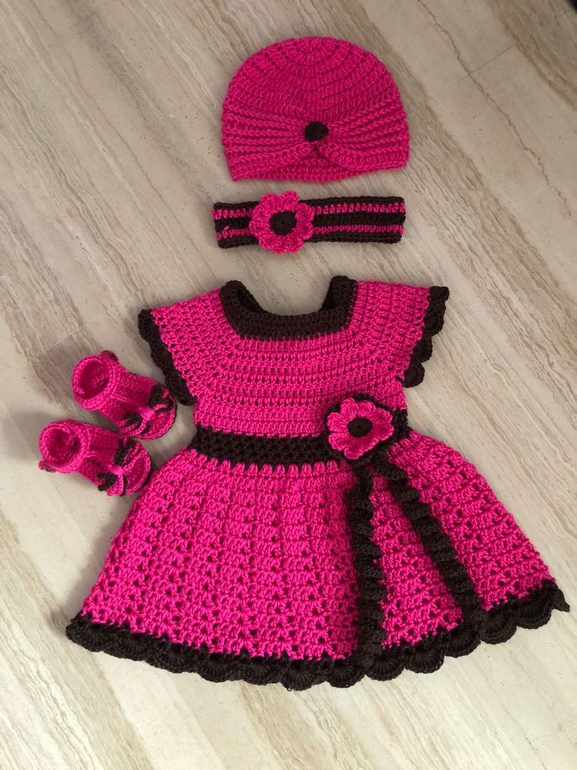 8d731cf96784 Crochet baby girls dress set, Babies & Kids, Girls' Apparel on Carousell