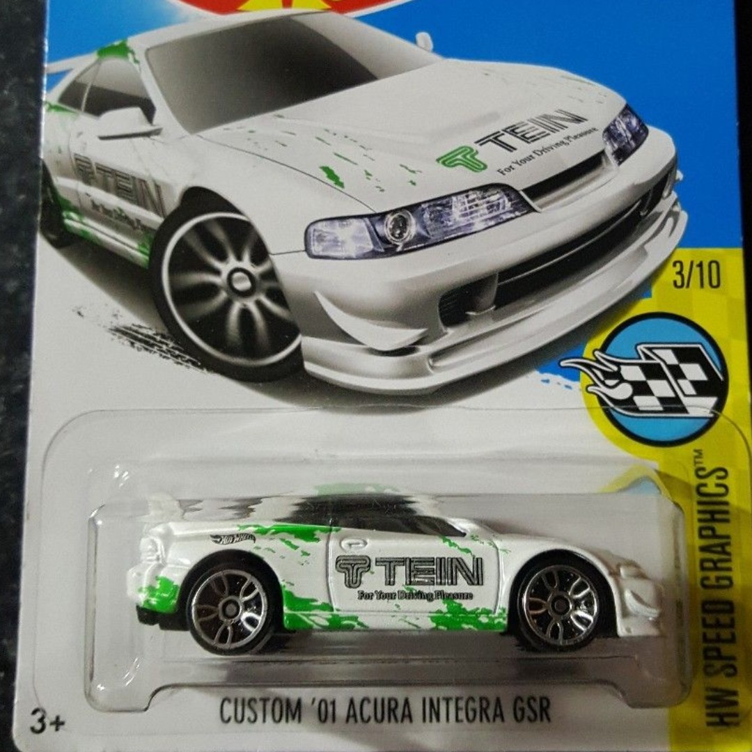 Custom 01 Acura Integra Gsr 2016 Hw Speed Graphics Series Special Offer Toys Games Bricks Figurines On Carousell