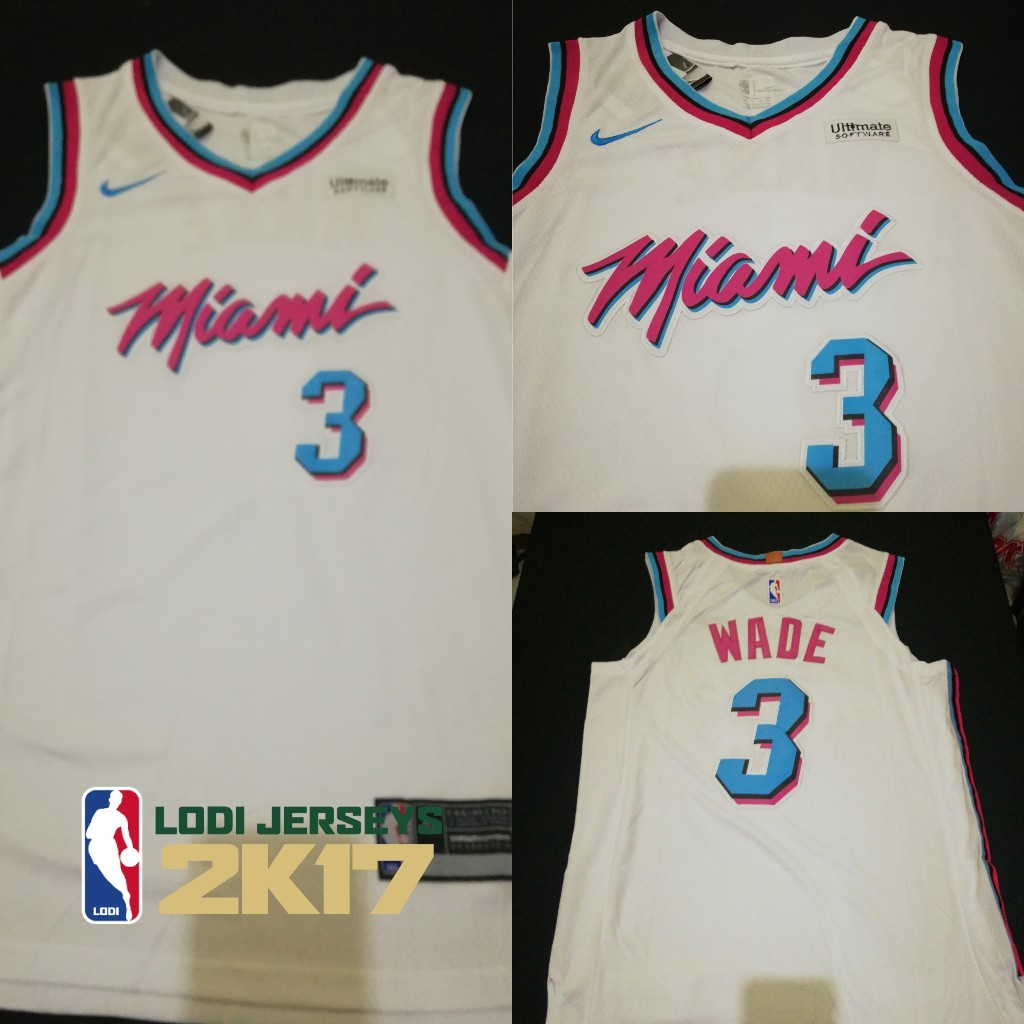 wholesale dealer 5ae85 7c05d Dwyane Wade Miami Jersey on Carousell