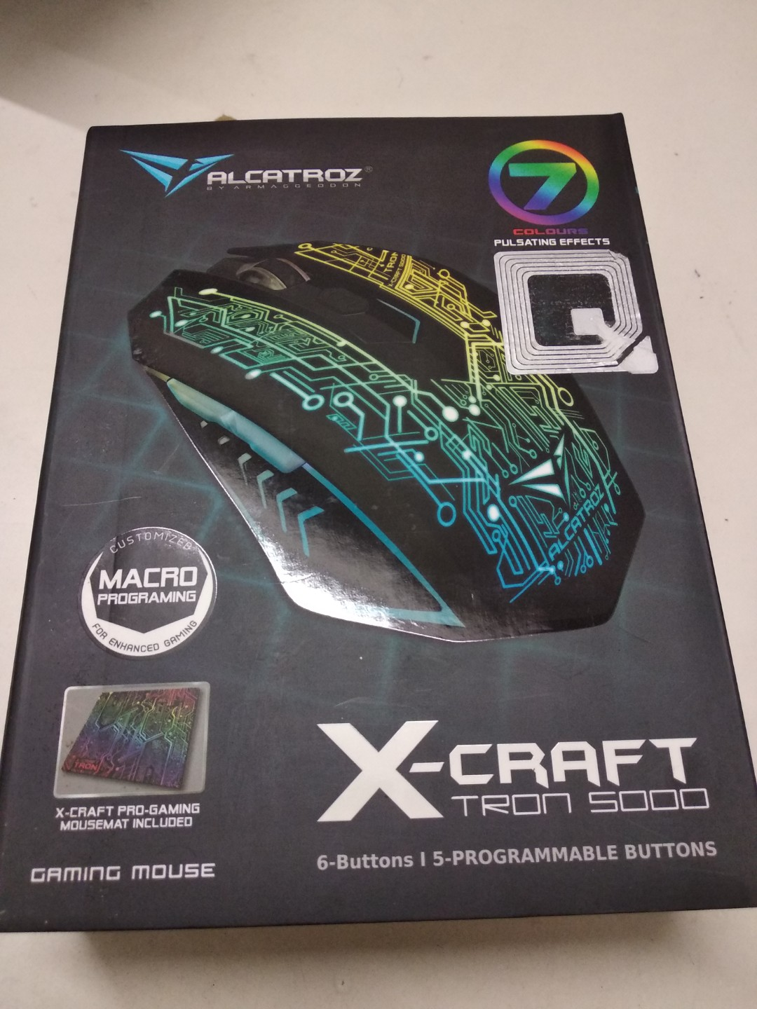 517627eba45 Gaming Mouse (Alcatroz X-Craft Tron 5000), Electronics, Computer Parts &  Accessories on Carousell