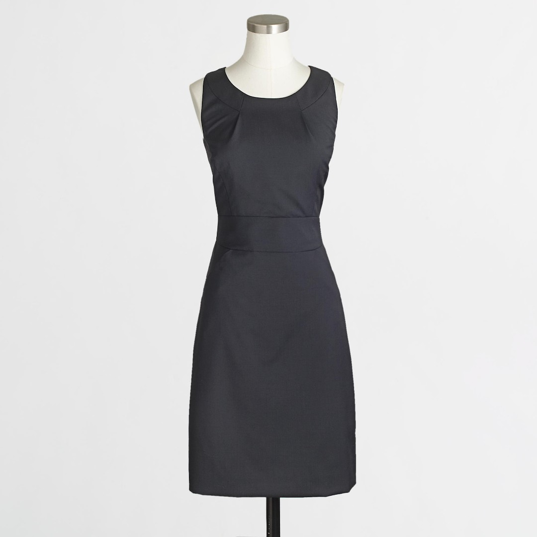 J. Crew Suiting Tailored Shift Dress in Lightweight