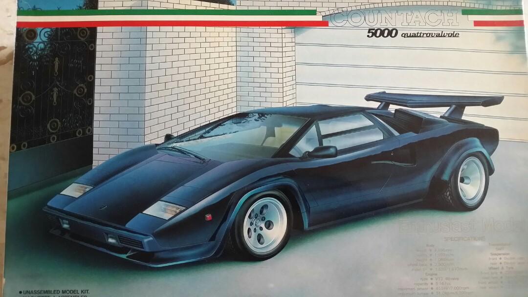 Lamborghini Countach 5000 Quattrovalvole Toys Games Bricks