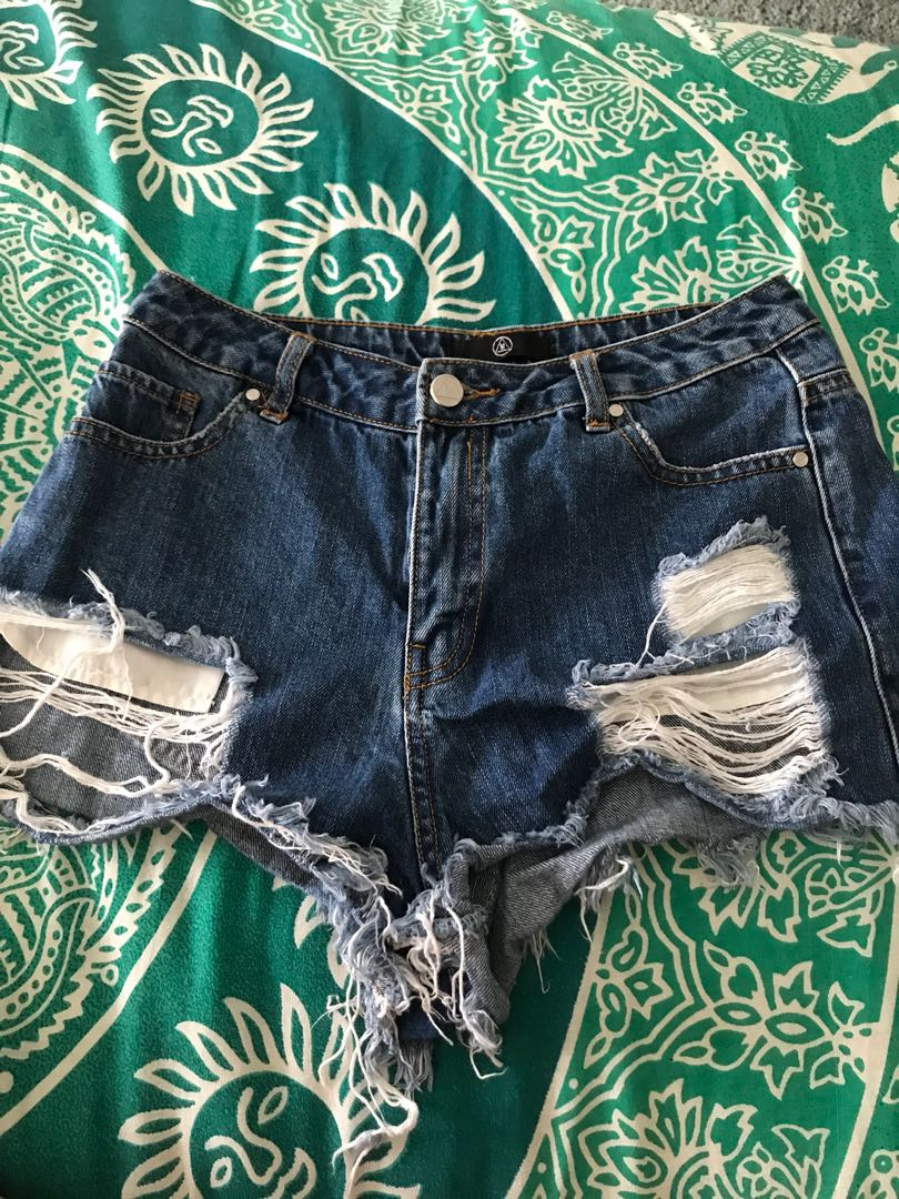 Misguided denim shorts S8