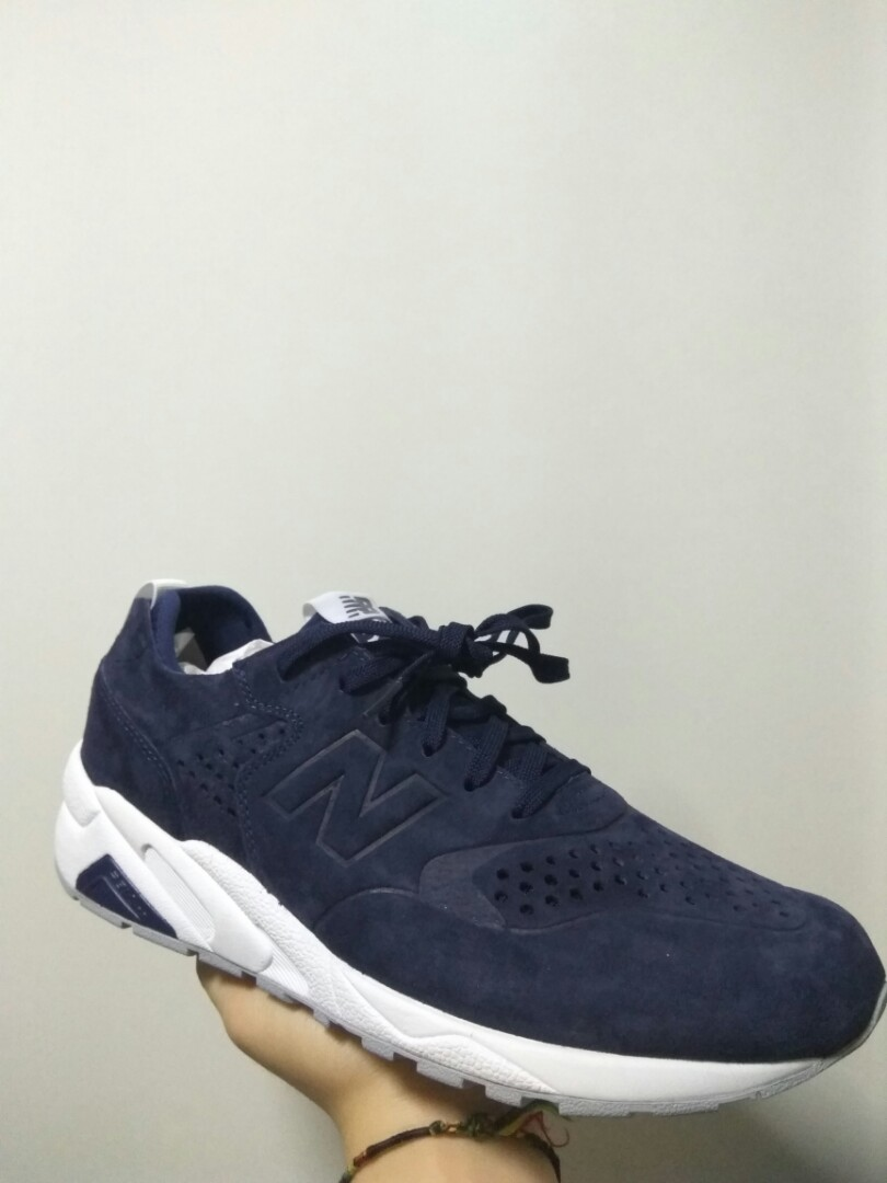 huge selection of 6d2fe 14913 New Balance MRT 580 DC Navy Suede, Men's Fashion, Footwear ...