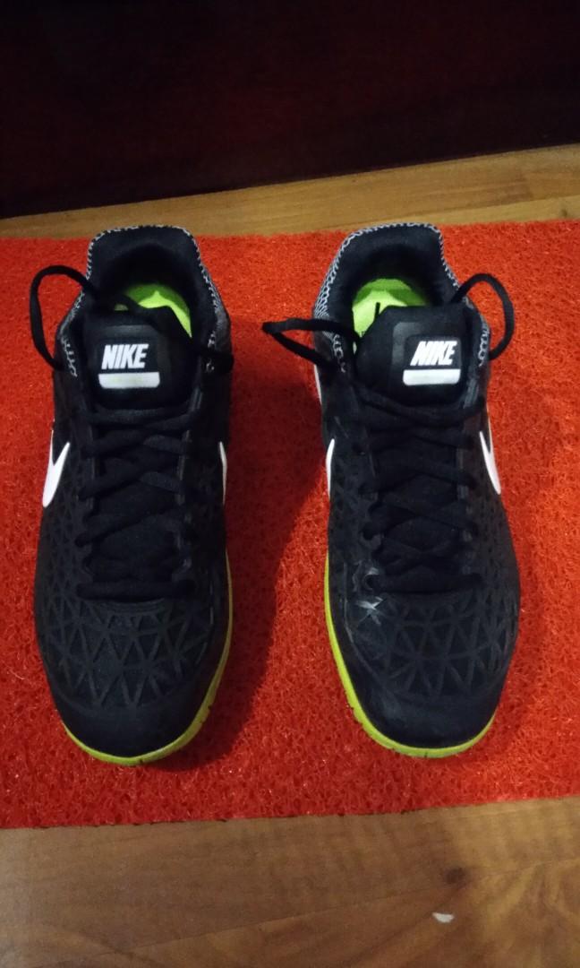 919f91dbca65b2 Nike Men s Tennis Shoes - Zoom Cage 2 (Black  White  Volt)
