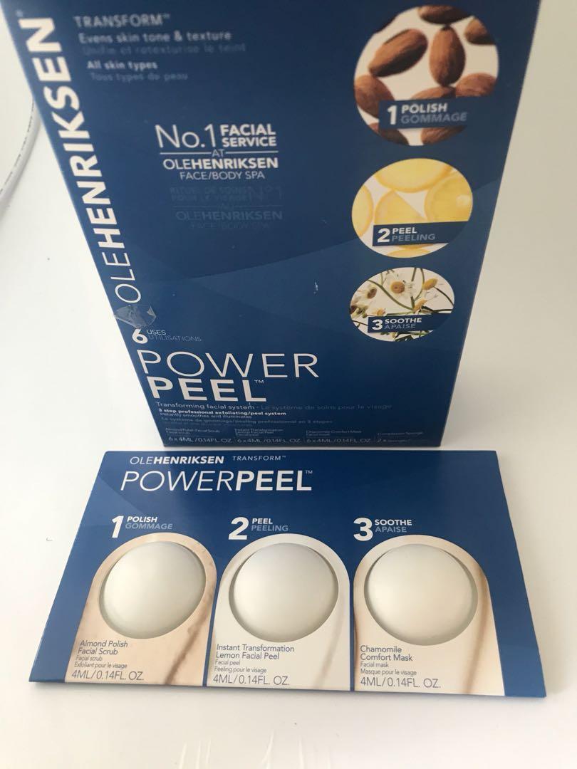 OLE HENRIKSEN Power Peel professional degree home facial peel 3 steps treatment