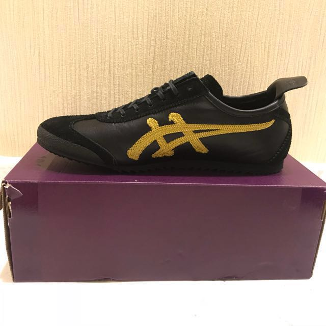 buy popular c1d4c da199 Onitsuka Tiger Mexico 66 Deluxe Black/Rich Gold, Women's ...