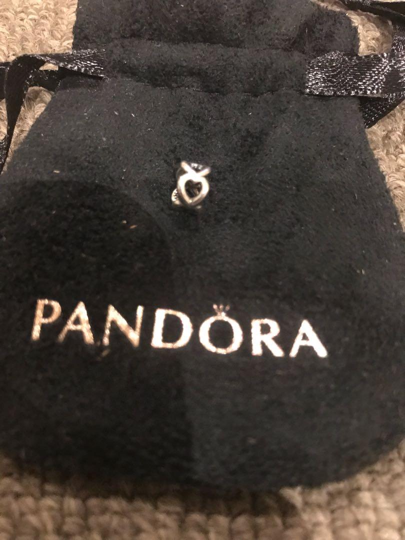 Pandora heart spacer charm