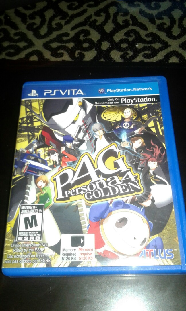 Persona 4 Golden PSP VITA on Carousell