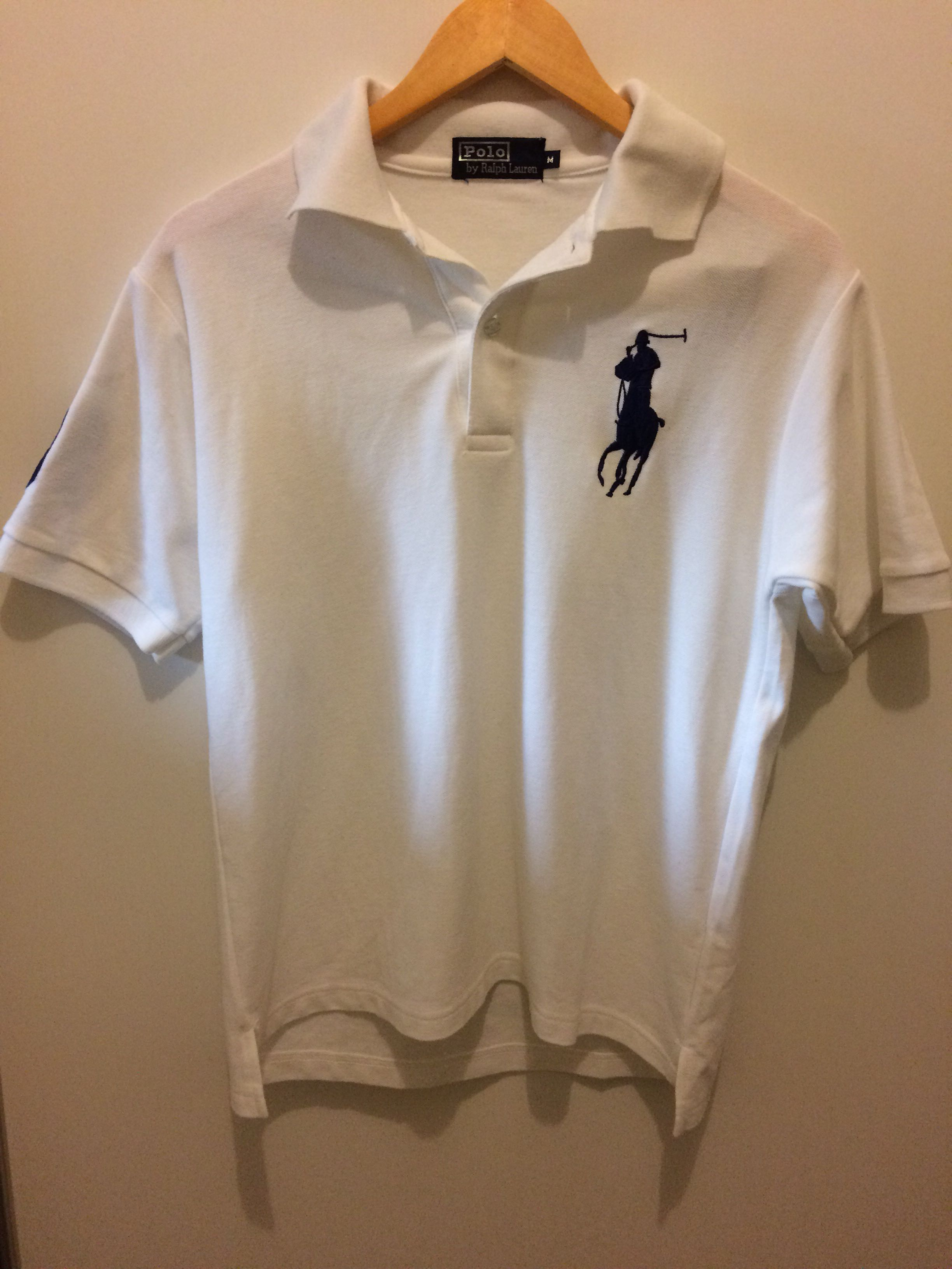 Polo Ralph Lauren white and navy top