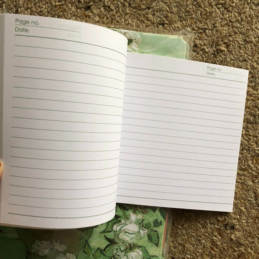 Small line notebook