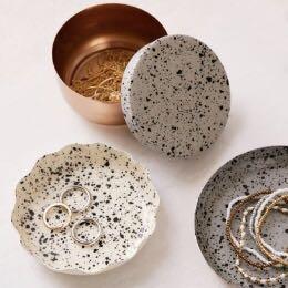 Splattered Enamel table-top (set of 3)