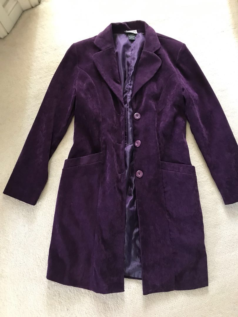 Stunning purple velour Velvet feel tail coat