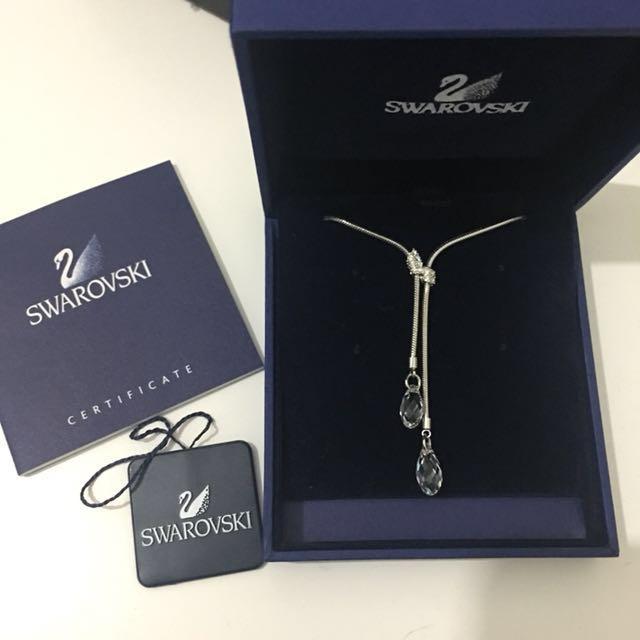 Swarovski diamond drop necklace