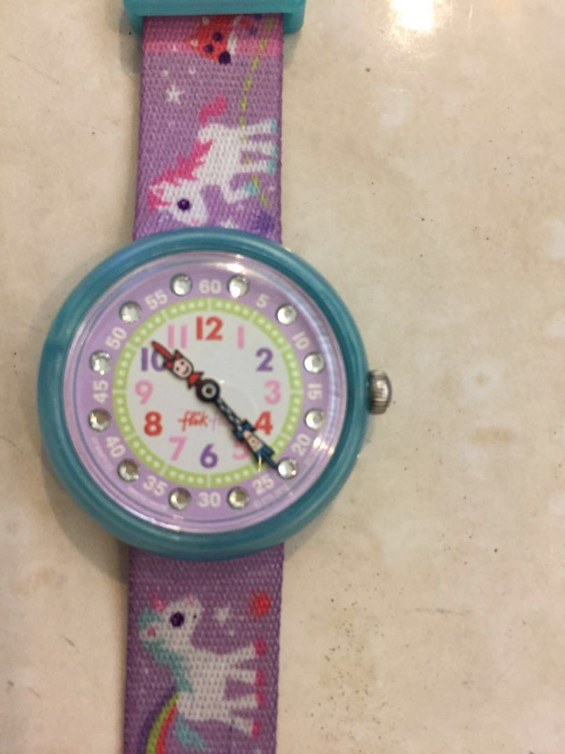 🆓📮SWATCH FLIKFLAK WATCH UNICORN KIDS 159de70c524