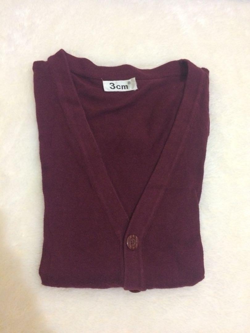 Sweater maron (wanita/pria) big size