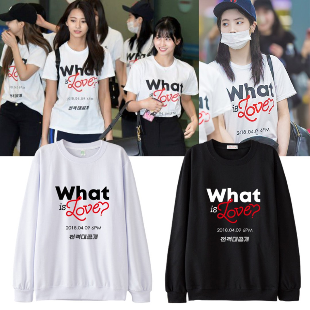 03253c4d0 TWICE What Is Love Pullover, Entertainment, K-Wave on Carousell