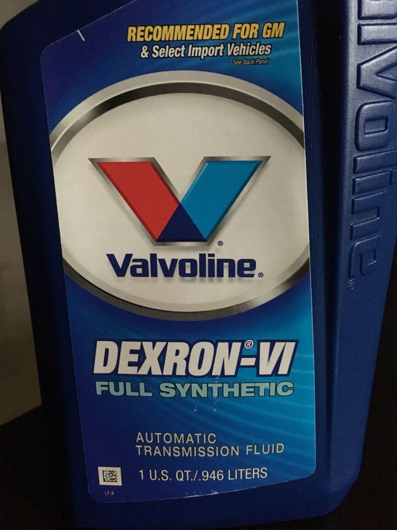 VALVOLINE DEXRON VI AUTO TRANSMISSION FLUID AFT