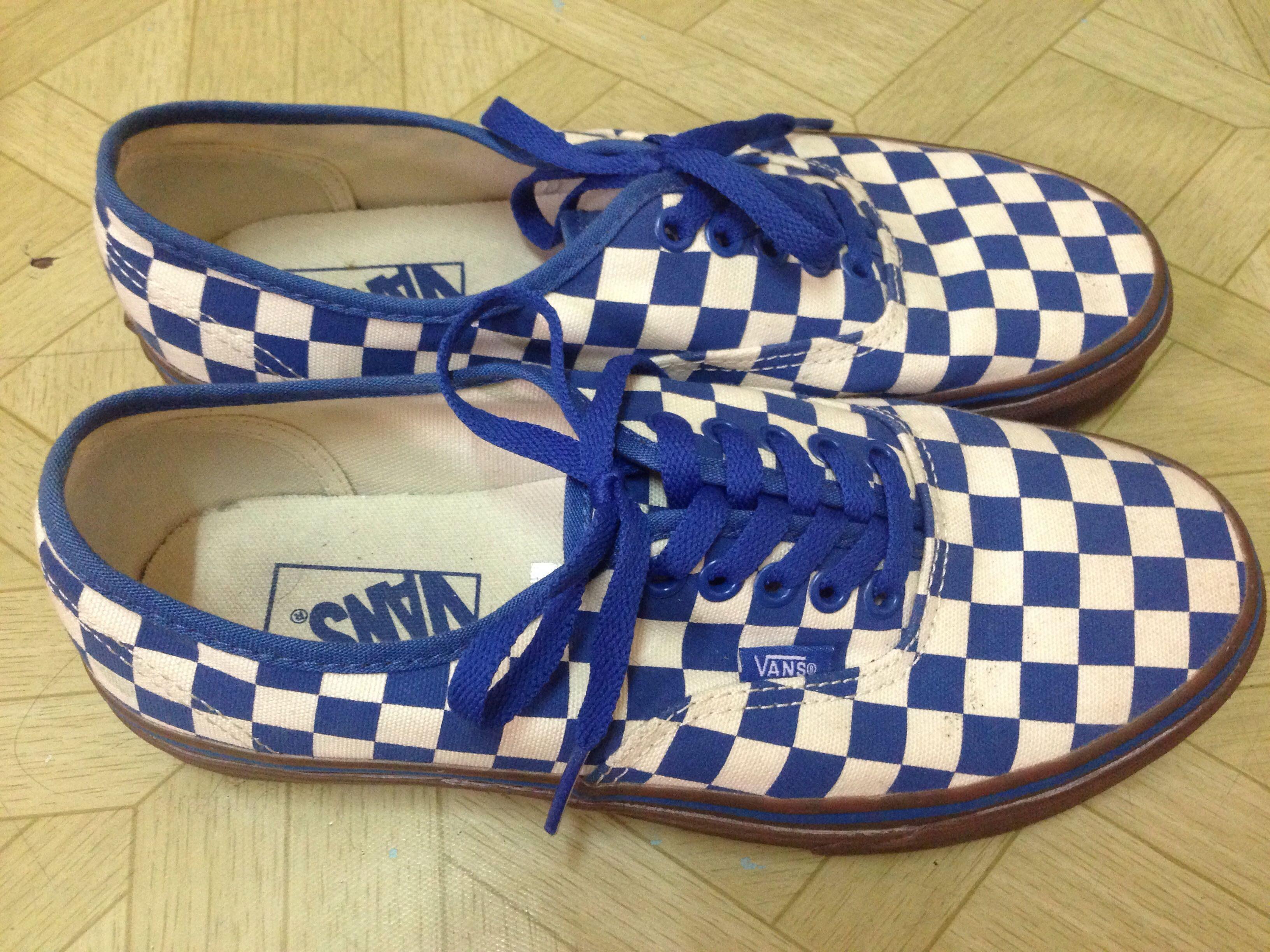 c9a48aeb7e Vans Authentic Checkerboard Gumsole blue for sell. Condition 8.5 10 ...