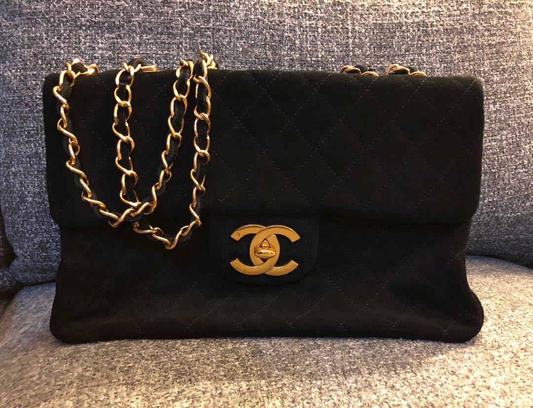 Vintage Chanel jumbo quilted bag
