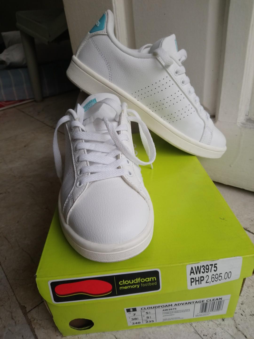 White Adidas Neo Shoes (cloudfoam