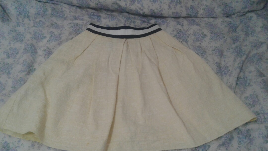 yellow pleated  skirt from CUE