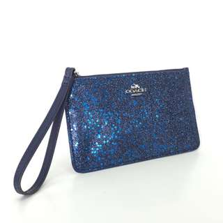 Coach Small Wristlet with Star Glitter