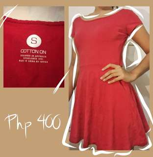 Red Dress from cotton on