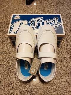 BFirst Girls White School Shoes