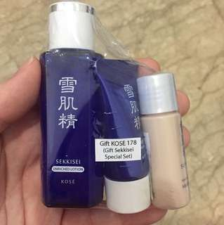Sekkisei Lotion, Face Wash, and Makeup Base