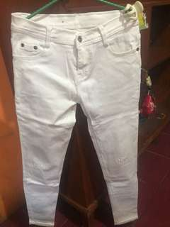 Jeans denim white