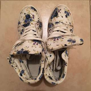 Floral Platform Sneakers