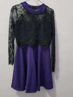 Brocade purple dress
