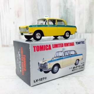TOMICA 古董日本品 TOMYTECH TOM TLV-127a Nissan Cedric On-site taxi  日本寄出