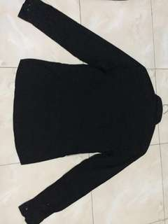 Kemeja H&M full Black slim fit